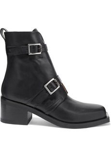 Rag & Bone Woman Fallon Buckled Leather Ankle Boots Black