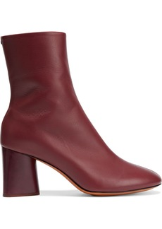 Rag & Bone Woman Fei Leather Ankle Boots Brick