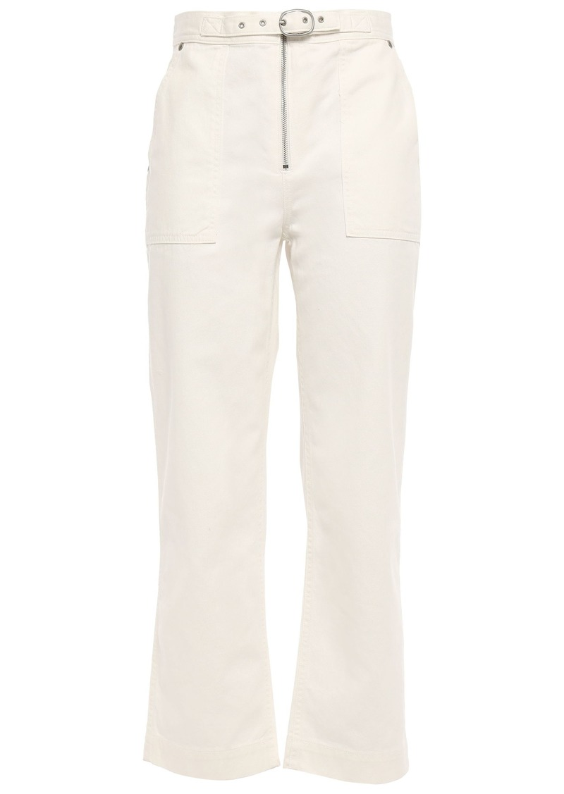 Rag & Bone Woman Field Cropped High-rise Straight-leg Jeans Ivory