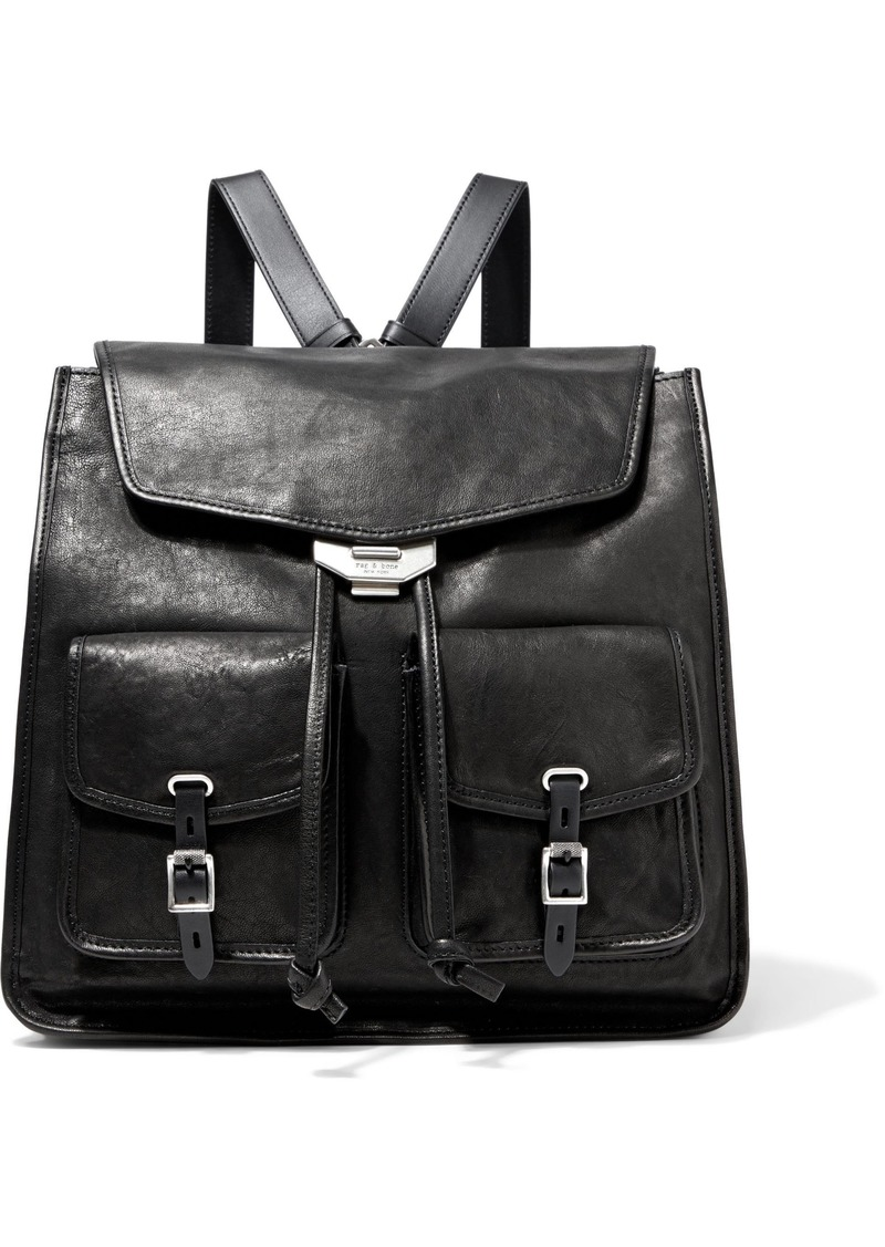 Rag & Bone Woman Field Textured-leather Backpack Black
