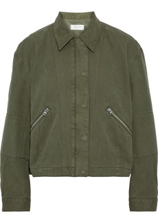 Rag & Bone Woman Fleet Cotton-canvas Jacket Army Green
