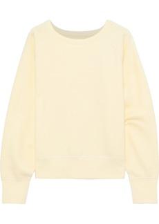 Rag & Bone Woman French Cotton-terry Sweatshirt Pastel Yellow