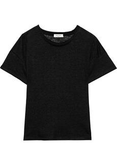 Rag & Bone Woman Gage Linen-jersey T-shirt Black