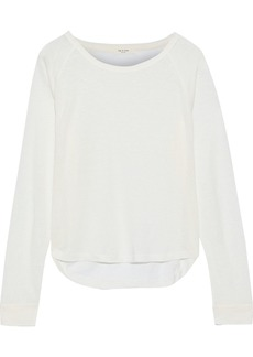 Rag & Bone Woman Gage Slub Linen-jersey Top Ecru