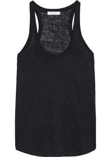 Rag & Bone Woman Gage Slub Linen-jersey Tank Black