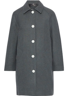 Rag & Bone Woman Gemma Snap-detailed Marled Wool-blend Felt Coat Dark Gray