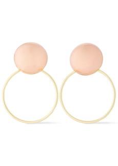Rag & Bone Woman Gia Rose Gold And Gold-tone Hoop Earrings Gold