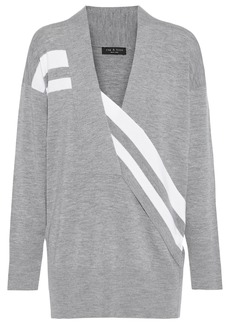 Rag & Bone Woman Grace Striped Merino Wool Sweater Gray