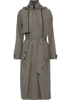 Rag & Bone Woman Halsey Shell Hooded Trench Coat Army Green