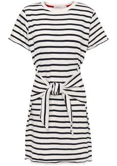 Rag & Bone Woman Halsey Knotted Cotton-jersey Mini Dress White