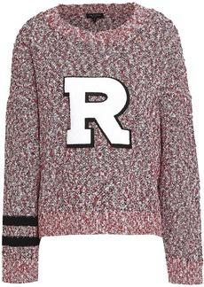 Rag & Bone Woman Halstead Appliquéd Bouclé-knit Cotton-blend Sweater Brick