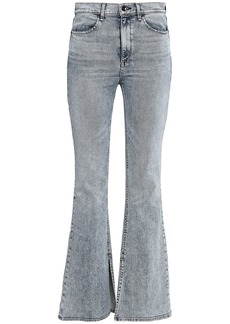 Rag & Bone Woman High-rise Flared Jeans Light Denim