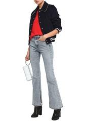 Rag & Bone Woman High-rise Flared Jeans Light Denim