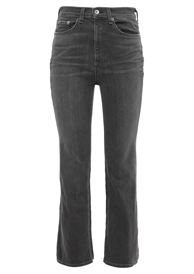Rag & Bone Woman High-rise Kick-flare Jeans Anthracite