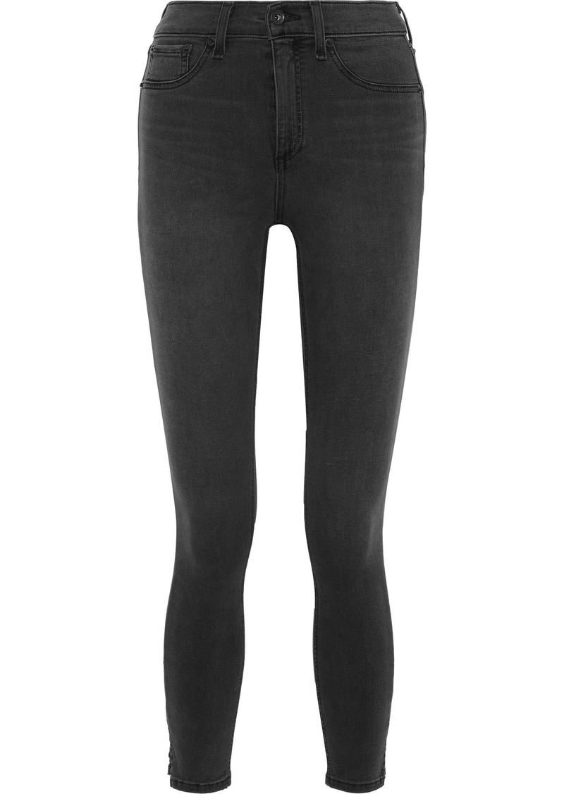 Rag & Bone Woman High-rise Skinny Jeans Anthracite