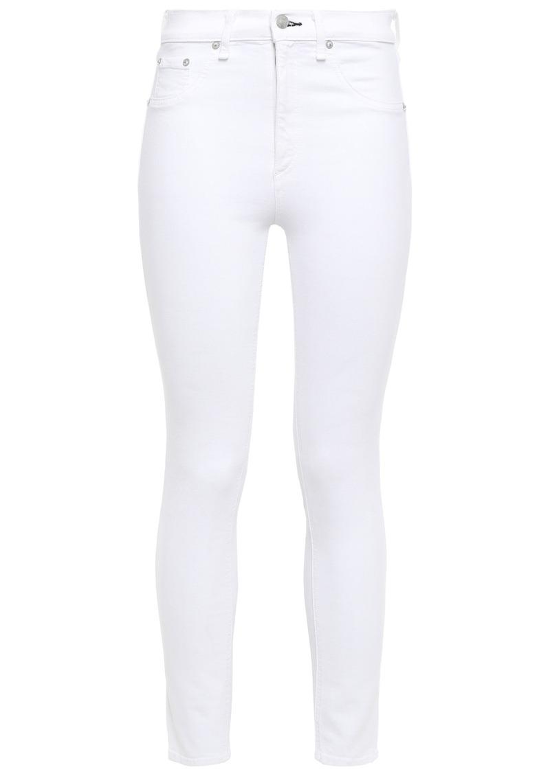 Rag & Bone Woman High-rise Skinny Jeans White