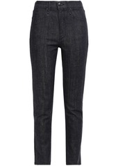 Rag & Bone Woman High-rise Slim-leg Jeans Dark Denim