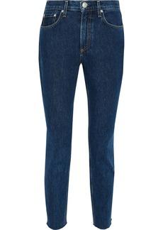 Rag & Bone Woman High-rise Slim-leg Jeans Dark Denim