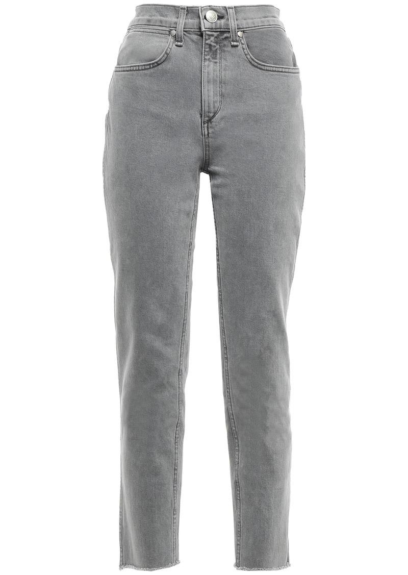 Rag & Bone Woman High-rise Tapered Jeans Gray