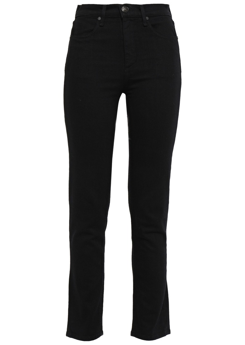 Rag & Bone Woman High-rise Straight-leg Jeans Black