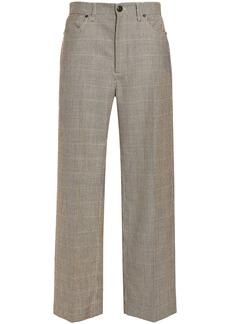 Rag & Bone Woman Houndstooth Wool Wide-leg Pants Beige