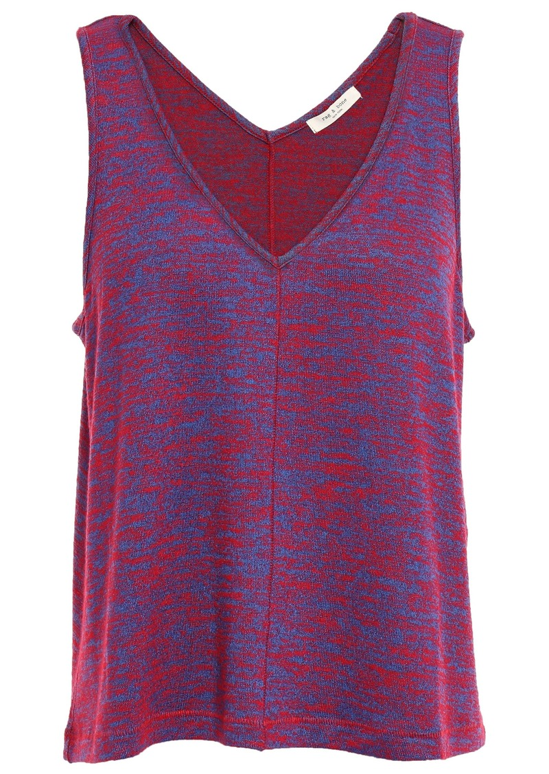 Rag & Bone Woman Hudson Printed Jersey Tank Blue