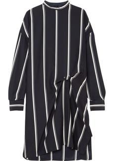 Rag & Bone Woman Jacklin Gathered Striped Silk Mini Dress Navy