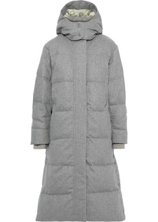 Rag & Bone Woman Jenset Quilted Wool-blend Down Hooded Coat Light Gray