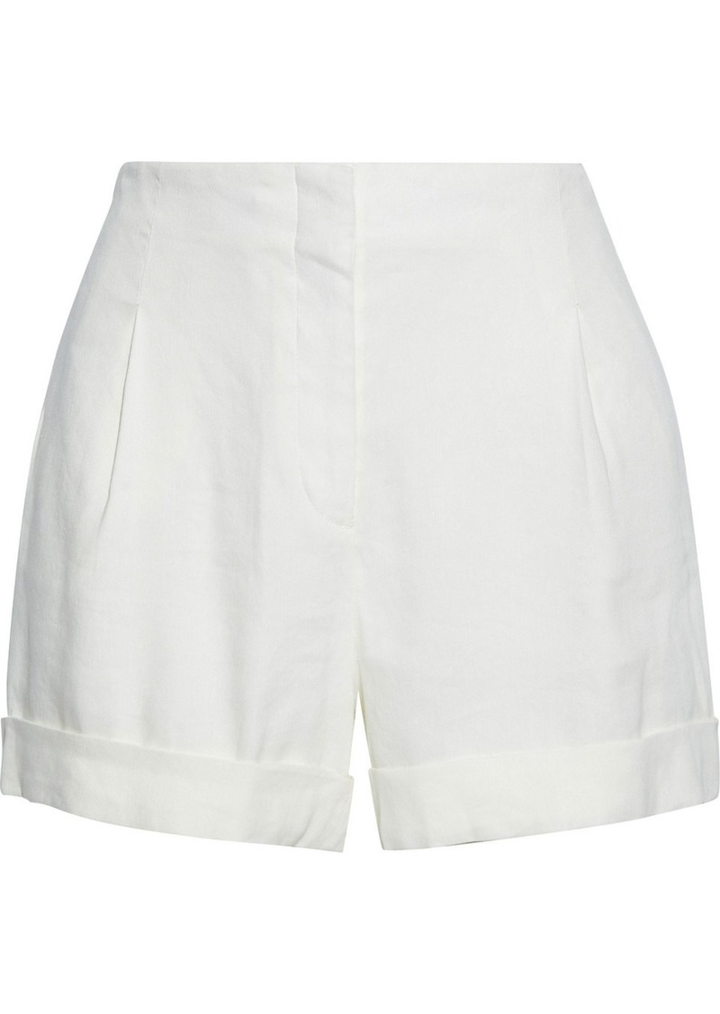 Rag & Bone Woman Jess Linen-blend Twill Shorts Off-white