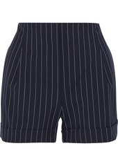 Rag & Bone Woman Jess Pinstriped Wool-blend Shorts Navy