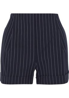 Rag & Bone Woman Jess Pinstriped Wool-blend Shorts Navy
