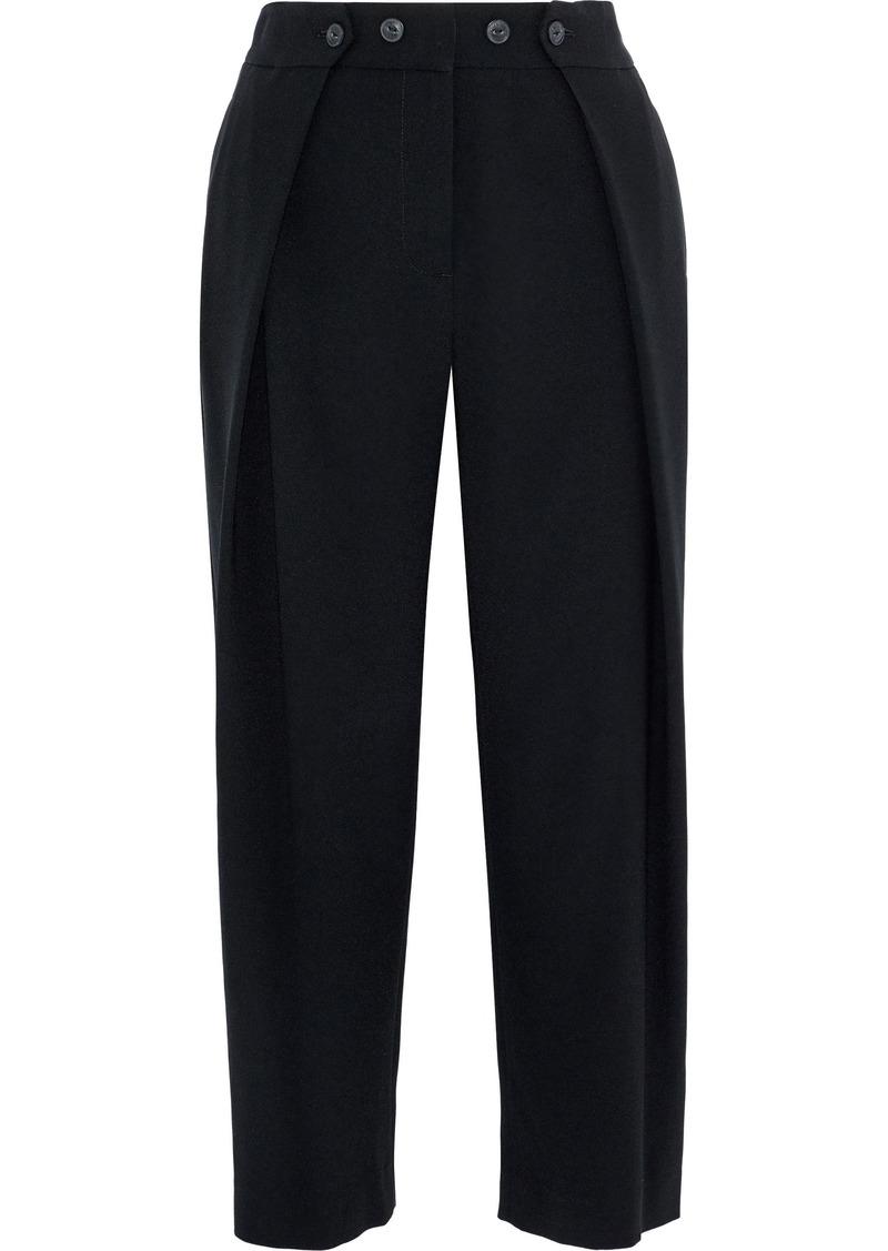 Rag & Bone Woman Jessa Crepe Straight-leg Pants Black