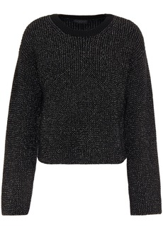 Rag & Bone Woman Jubilee Metallic Ribbed-knit Sweater Black