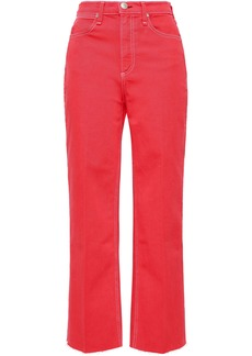 Rag & Bone Woman Justine Cropped High-rise Straight-leg Jeans Tomato Red
