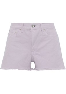 Rag & Bone Woman Justine Frayed Denim Shorts Lilac