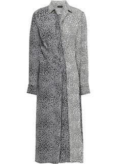 Rag & Bone Woman Karen Leopard-print Silk Midi Shirt Dress Animal Print