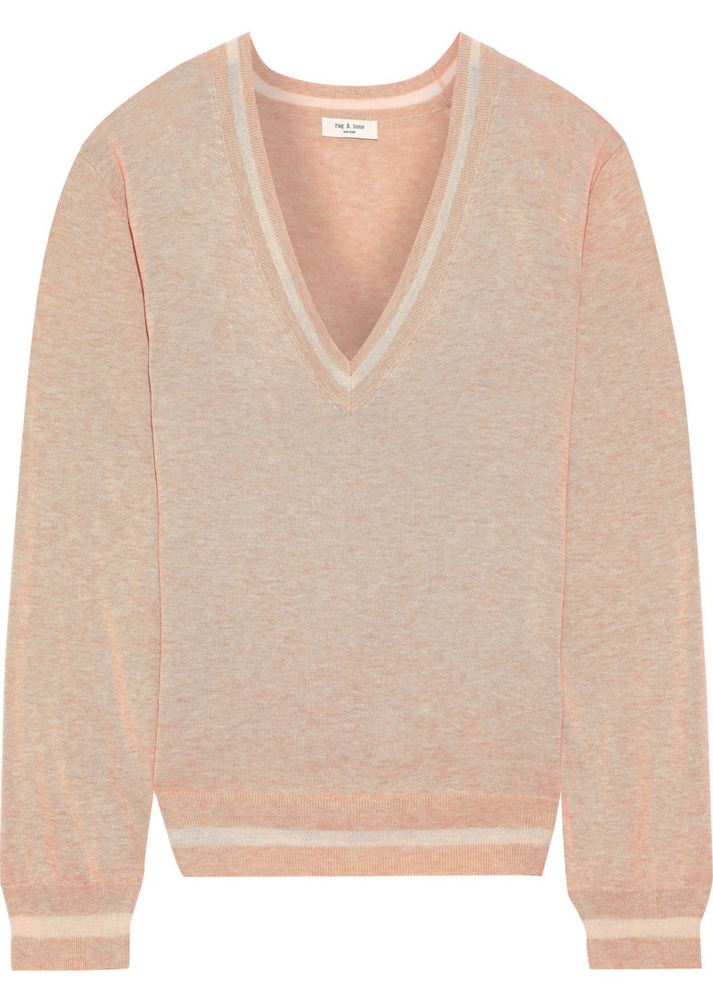 Rag & Bone Woman Kento Pima Cotton Sweater Blush