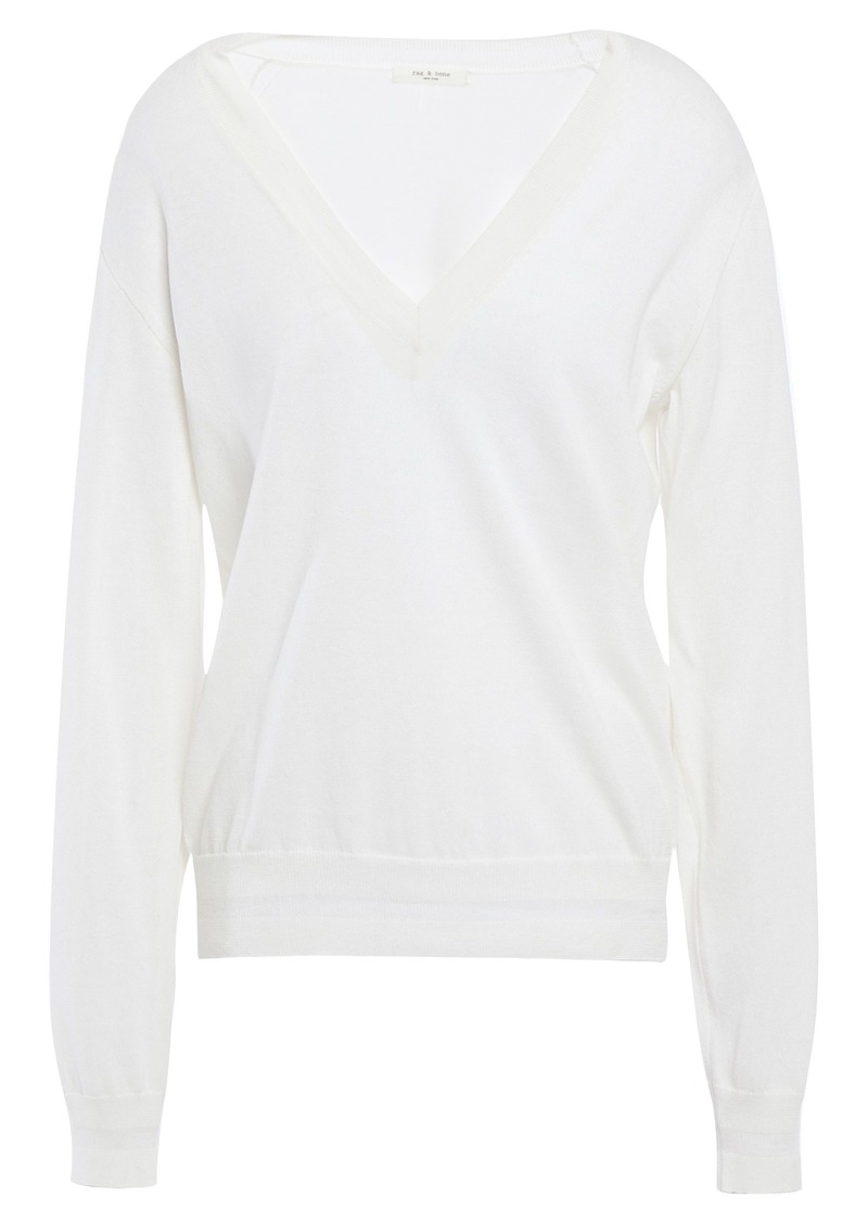 Rag & Bone Woman Kento Pima Cotton Sweater White