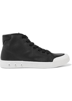 Rag & Bone Woman Leather High-top Sneakers Black