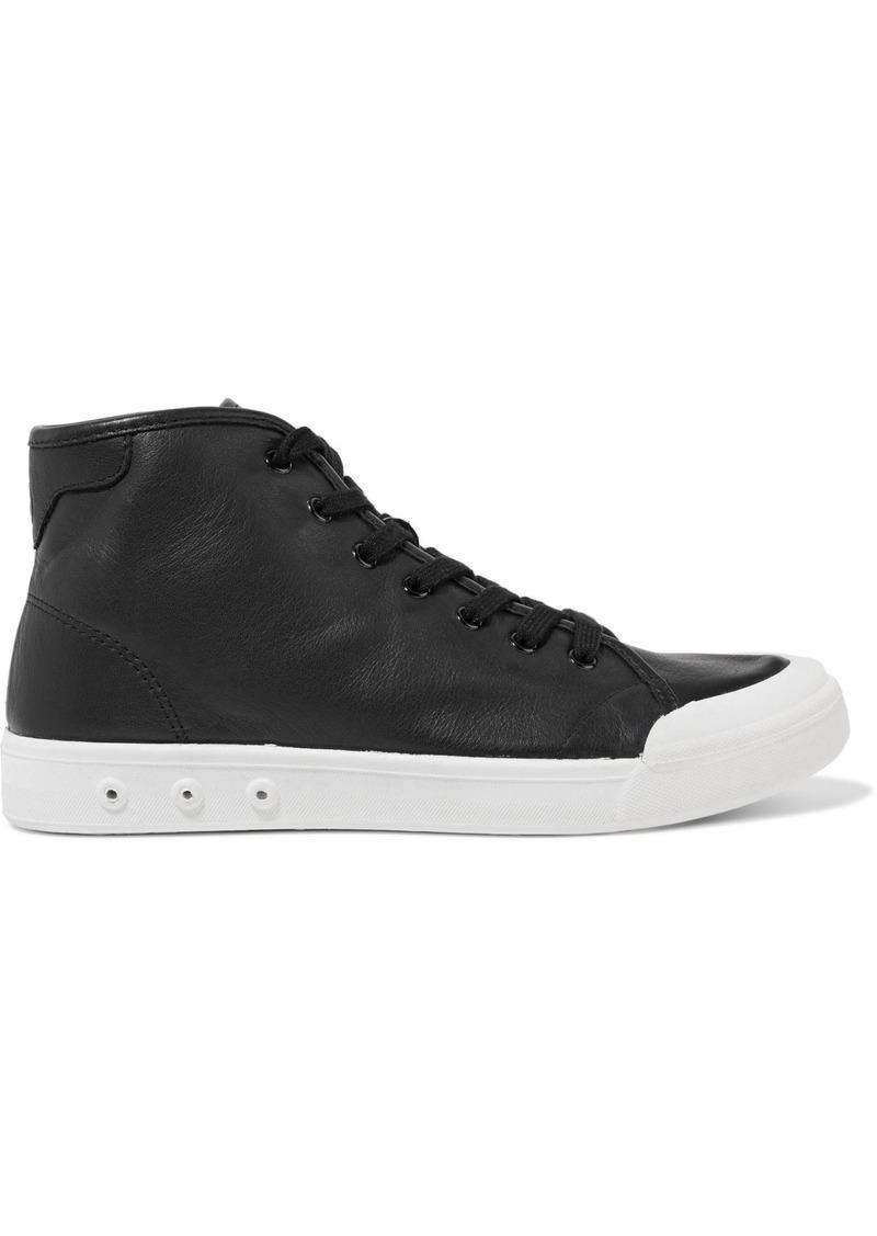Rag & Bone Woman Leather High-top Sneakers Black