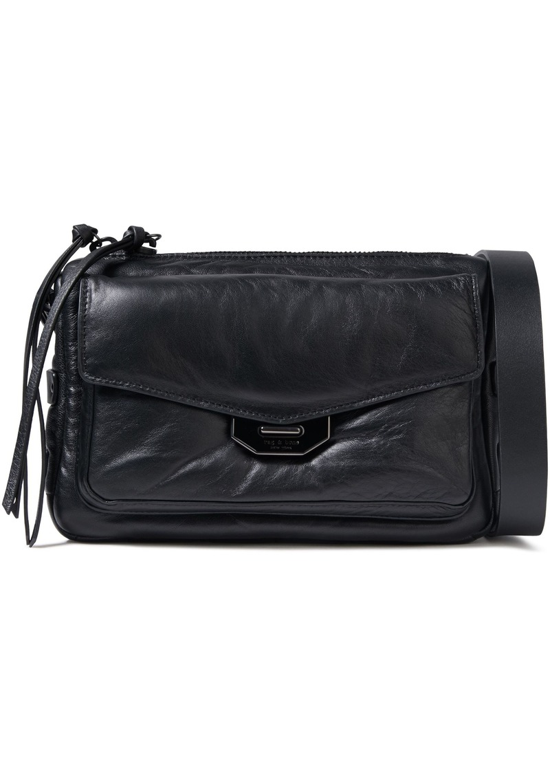 Rag & Bone Woman Leather Shoulder Bag Black
