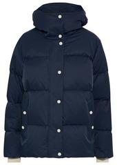 Rag & Bone Woman Leonard Quilted Cotton-blend Hooded Jacket Navy