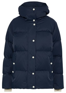 Rag & Bone Woman Leonard Quilted Cotton-blend Hooded Jacket Navy