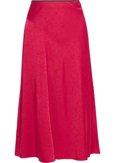 Rag & Bone Woman Letti Satin-jacquard Midi Skirt Red