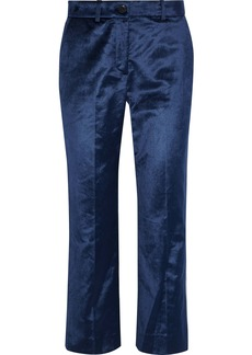 Rag & Bone Woman Libby Cotton-blend Velvet Straight-leg Pants Royal Blue