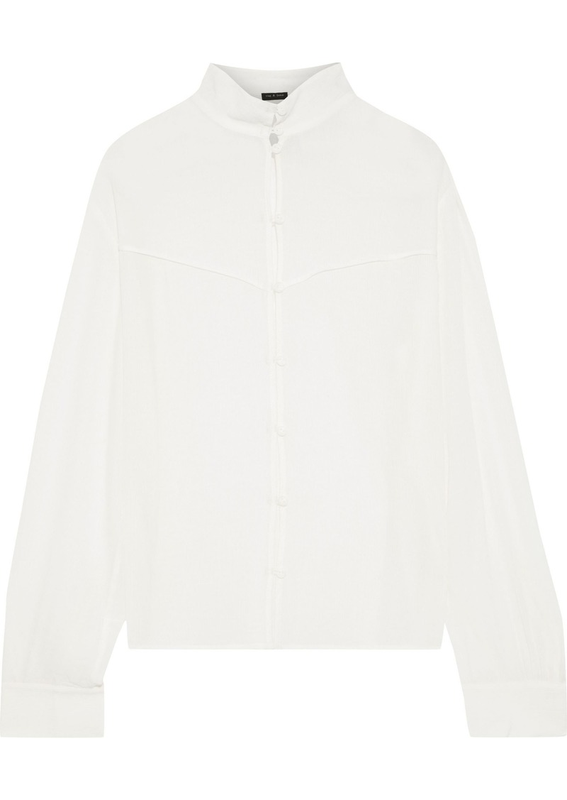 Rag & Bone Woman Libby Georgette Shirt White