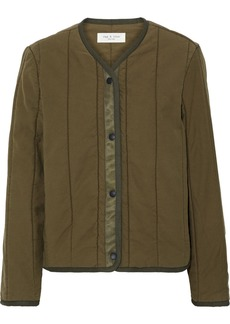 Rag & Bone Woman Liner Quilted Slub Cotton-canvas Jacket Army Green