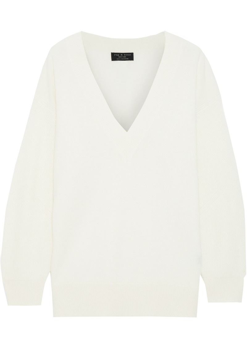 Rag & Bone Woman Logan Cashmere Sweater Off-white