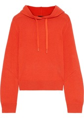 Rag & Bone Woman Logan Ribbed Cashmere Hoodie Bright Orange