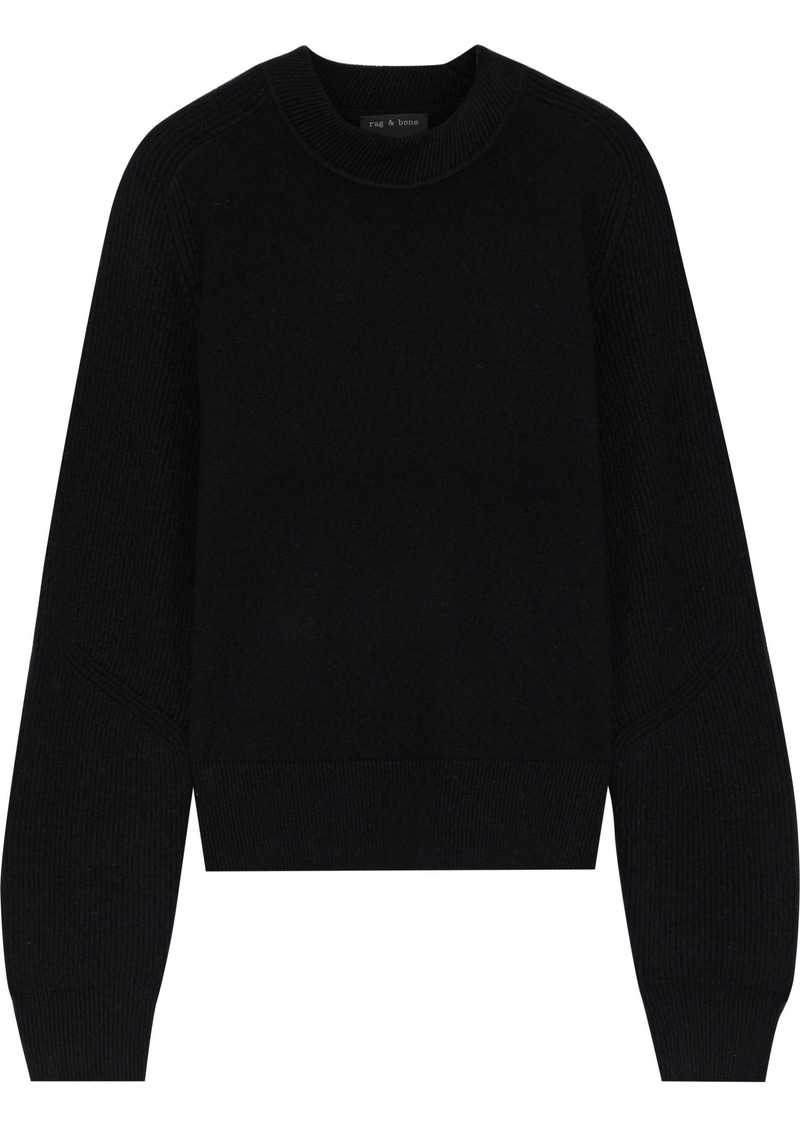 Rag & Bone Woman Logan Ribbed Cashmere Sweater Black